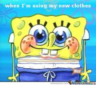 Wearing New Clothes